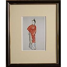 monté et encadrée Costume Design, 20,3x 25,4cm, encadré le rossignol par Alekdansdr Benois