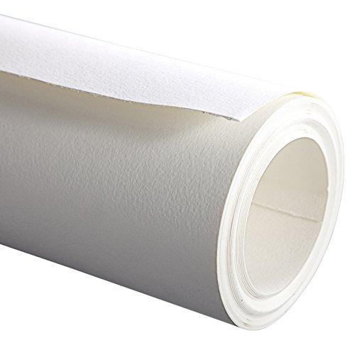 """Clairefontaine 96701C Rolle Aquarellpapier (mit feinkörnung Etival, 100{0f5a8ab1f4560144275fcbeb3e682ee96a24d211978561004ef1a91947634250} Zellulose, 300 g, 1,3 m x 10 m, professionelle Qualität, ideal für Künstler), feinkörnig \""""Cold pressed\"""", weiß"""