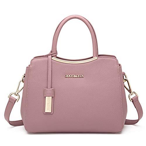 Mueka Handtasche Damen,Marken Handtaschen Damen,Geschwungene Hardware-Ledertasche,Einfacher Lässiger Stil,Wasserdicht Und Verschleißfest