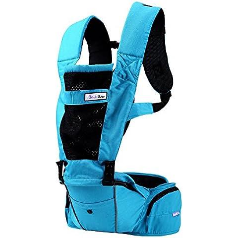 Multifuncional Mochilas portabebé suave transpirable seguro y cómodo Four Seasons bebé sosteniendo honda envoltura hombro frente mochila