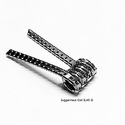 DIY-24H - 10x Juggernaut Coils 0,45 Ω Ohm Wire Prebuilt Fertigwicklung RDA RBA RTA Kanthal A1 Draht von DIY-24H