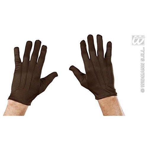 Lively Moments Kurze Handschuhe in braun / Kostüm Zubehör für Clown und Tiere wie Bär oder ()