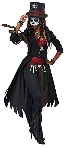California Costumes Voodoo-Kostüm für Damen Halloween-Kostüm schwarz-braun L (42/44)