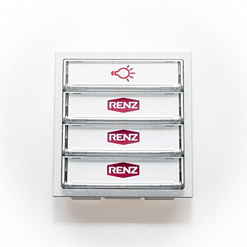 RENZ Tastenmodul mit 1 Lichttaster + 3 Klingeltaster-Verkehrsweiß (RAL 9016)