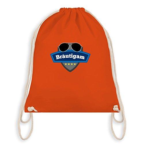 JGA Junggesellenabschied - Bräutigam Police - Turnbeutel I Gym Bag Orange