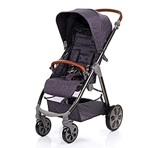 Baby Stroller One-button Car Stroller Shock Absorber Stroller Light High Landscape Can Sit Reclining Fold (Color : WHITE, Size : 111 * 89 * 60CM)   6