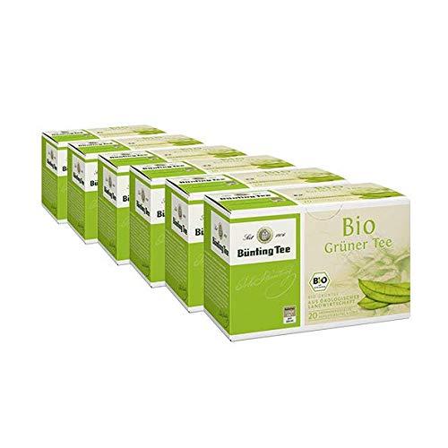 Bünting Bio Grüner Tee Beutel 20×1,75g, 6er