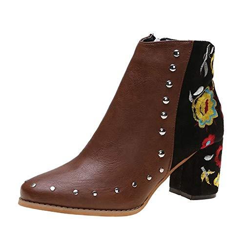 Xinantime Botas Nieve Patrón Flores Zapatos Calientes