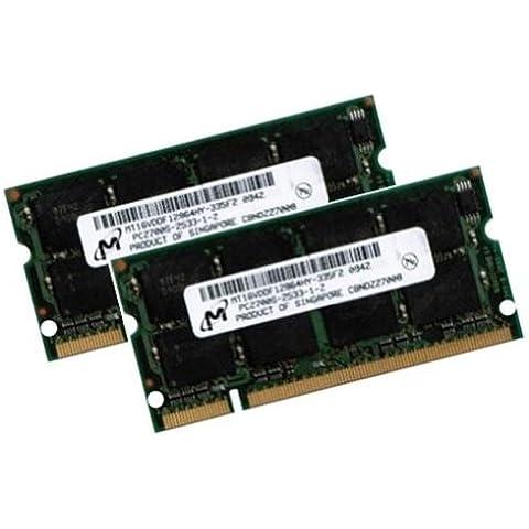 Mihatsch & Diewald - RAM 2GB PC-2700, SO-DIMM, 333 MHz, CL2.5, 200 pin, 2 x 1 GB,  DDR-SDRAM per PC portatile, MD-Micron 3rd