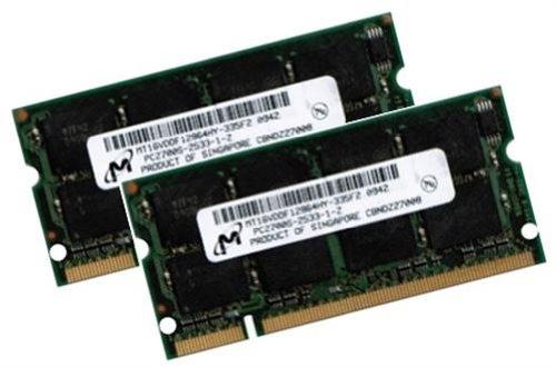 Arbeitspeicher 2GB PC-2700 Kit (SO-DIMM, 333 MHz, CL2.5, 200-polig, 2 x 1 GB) DDR-SDRAM - für Notebooks - MD-Micron 3rd - 333mhz Ddr-sdram Notebook-speicher