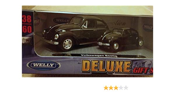 Sealed In Box Welly 1//38 Scale VW Beetle Black Pull-Back Action