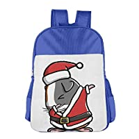 Dabbing Guinea Pig Ugly Christmas School Backpack Children Shoulder Daypack Kid Lunch Tote Bags Pink