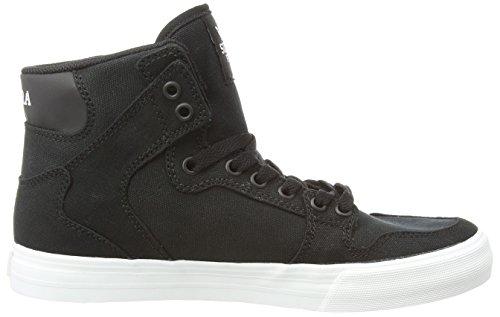 Supra Vaider D, Sneakers Hautes mixte adulte Noir (BLACK - WHITE BLK)