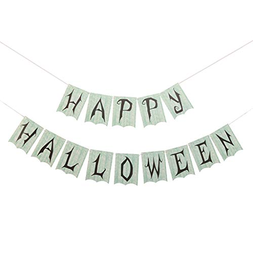 Masrin Happy Halloween Bunting Banner hängen Home Office Tür Dekor Party Ornamente (Grün)