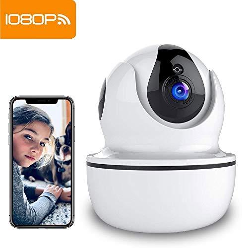 SuperEye 1080P WLAN Kamera mit Nachtsicht,Überwachungskamera IP Kamera Indoor WLAN,Smart Home WiFi Kamera,Bewegungsmelder,2-Way Audio,App Kontrolle Haus Monitor Haustier Kamera,Unterstützt Fernalarm Smart Audio