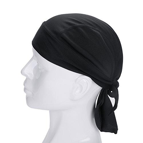 (Qchomee Unisex Bandana für Haarverlust Kopftuch Hat Atmungsaktiv Cap UV Schutz Kopftücher Biker Hat Piratentuch Herrem Damen Sport Kopfhaube Weich Kappe Komfort Schlafmütze Kopfbedeckungen)