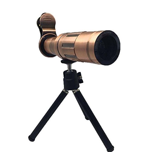 Onfly 20X telefono cellulare esterno teleobiettivo telefono cellulare telescopio universale telefono cellulare HD lega di alluminio teleobiettivo 20 volte con treppiede