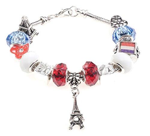 Vive-La-France-Charm-Bracelet-avec-bote-cadeau-femme-fille-bijoux