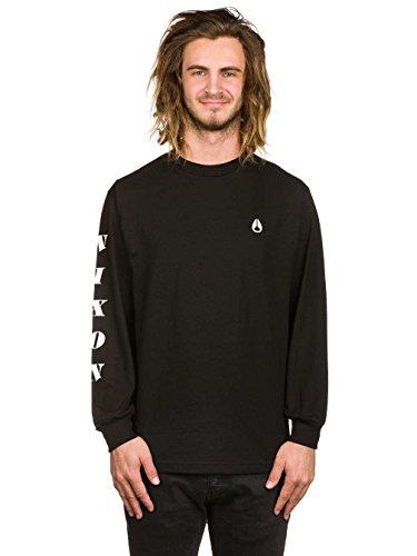 Herren Langarmshirt Nixon Breakaway T-Shirt Black