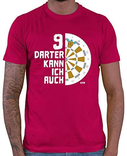 HARIZ  Herren T-Shirt 9 Darter Kann Ich Auch Dart Darten Dartpfeile Weltmeisterschaft Plus Geschenkkarten Sorbet Rot XL