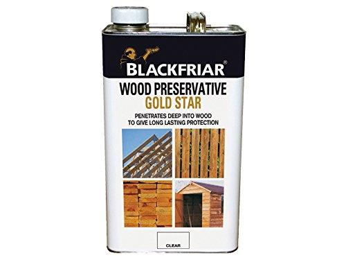 Blackfriar BKFGSWPEB5L Gold Star Wood Preservative, 5 Litre, Ebony
