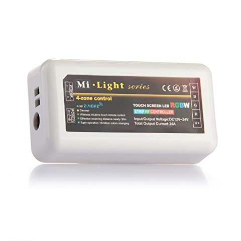 Mi-Light 2.4G RGBW LED Controller Dimmer 12V 24V 6A 2.4Ghz for RGB+W LED Lighting Strip Brightness Color Control