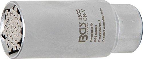 """BGS 2533 , Multi-Steckschlüssel-Einsatz , 10 mm (3/8\"""") , universal , SW 9-21 mm"""