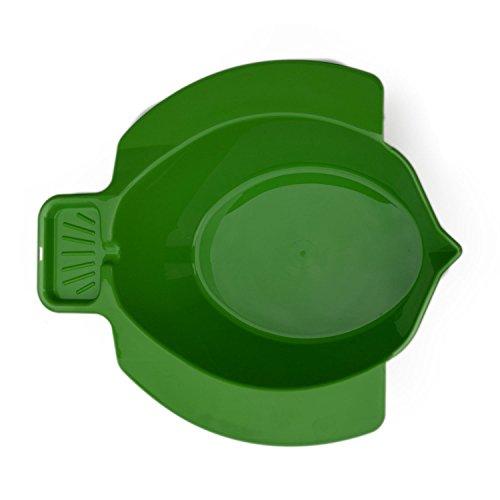 Bidetbecken, grün | BerseCare Hygiene Becken für die Toilette | Intim-Wäsche / Pflege-Bad / Wasch-Bidet