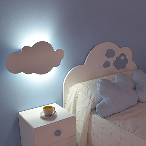 Lampara de pared infantil Nube (Blanco)