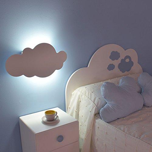 Bainba Wandleuchte in Wolkenform 48 x 26cm weiß