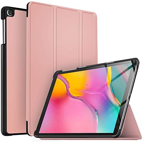 IVSO Coque Etui Housse pour Samsung Galaxy Tab A T515/T510 10.1 2019, Slim Cover Housse de Protection pour Samsung Galaxy Tab A T515/T510 10.1 2019, Rose Or