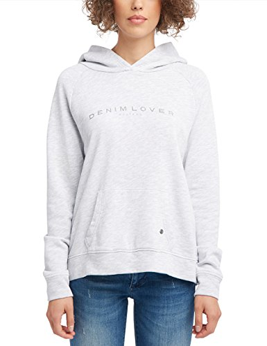 Mustang Damen Regular Fit Kapuzenpullover, Grau Meliert, Large -