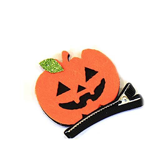 Rocita Novelty Baby Mädchen Halloween Haarnadel Kostüm Halloween Haarklammern Karneval Geburtstag Party Geschenk Haarklammer Haarschmuck Smiley Kürbis