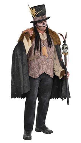 Mens Voodoo Witch Doctor Kostüm - Plus (Kostüm Voodoo Mann)