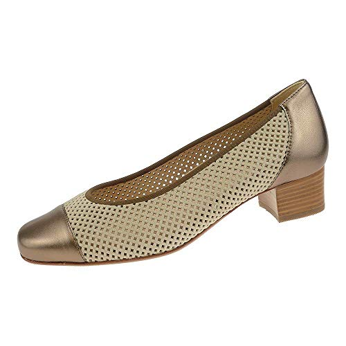Hassia Damen Schuhe Pump Evelyn Weite J Offwhite Bronze 93033200470 (5 UK)