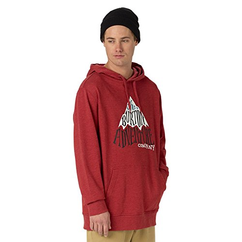 Burton Herren Adventure Co Tee Hoodie Brick Red Heather