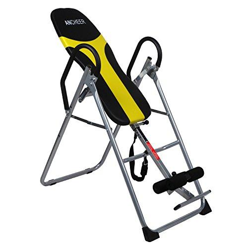 Serface Inversionsbank klappbar, Schwerkrafttrainer Rückentrainer, 122-196cm, Inversionstisch, Inversionstrainer, bis zu 136kg belastbar