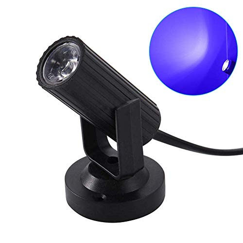 light Superhell Bankett Dj Disco Energiesparend Plastik Party Punktstrahler Effekt Lampe Mini LED Ktv bar Weiß Lightwhite) - Schwarz, blue light ()