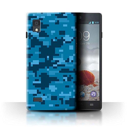 Stuff4® Hülle/Case für LG Optimus L9/P760 / Blau Digital Urban Muster/Militär Camouflage Tarnung Kollektion (Camo Lg Optimus L9 Case)
