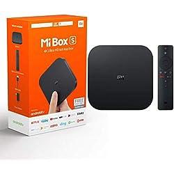 Original Xiaomi TV Box S (EU Version) Fire TV Stick 4K Ultra HD avec Audio Dolby, Télécommande Google Assistant, Télécommande vocale, HDMI 4K HDR, Lecteur de média en continu