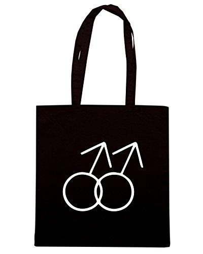 T-Shirtshock - Borsa Shopping TCO0062 gay symbol logo Nero