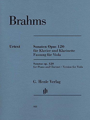 Sonaten Opus 120 für Klavier und Klarinette: Fassung für Viola