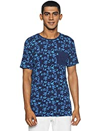Nation Street Men's Printed Slim Fit T-Shirt