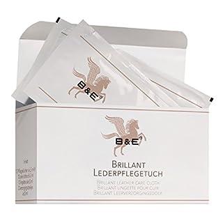 Bense & Eicke B & E Brillant Lederpflegetücher Karton mit 12 Stück für Unterwegs | Lederpflege | Lederweichmacher