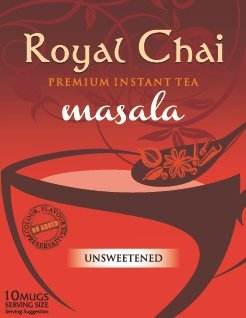 Royal Chai Premium Instant Tea Masala Unsweetened 180gram (4 Packs 40 Cups Servings)