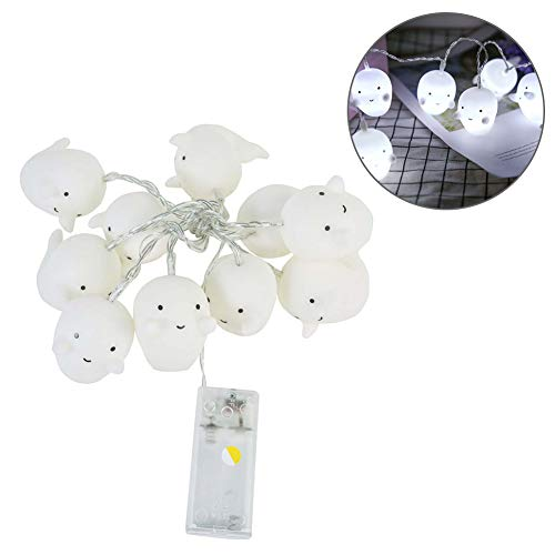 (YUnnuopromi Niedliche Cartoon Ghost 10led Fee String Light, Party Halloween Home Dekoration Lampe)