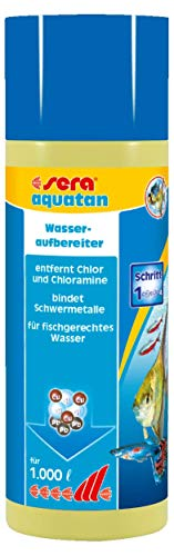 sera 03050 aquatan 250 ml - Leitungswasseraufbereiter (5ml auf 20 Liter) für allzeit fischgerechtes, sicheres und klares Wasser