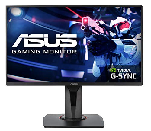 "Asus VG258Q Esports Monitor Gaming 25"", FHD, 1 ms, fino a 144 Hz, DP, HDMI, DVI-D, Narrow Bezel, FreeSync, G-Sync, Low Blue Light, Flicker Free"