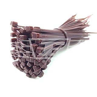 100 x BROWN CABLE TIES / TIE WRAPS / ZIP TIES, 4.8mm x 200mm + FREE UK DELIVERY