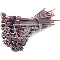 100 x BROWN CABLE TIES / TIE WRAPS / ZIP TIES, 2.5mm x 100mm + FREE UK DELIVERY